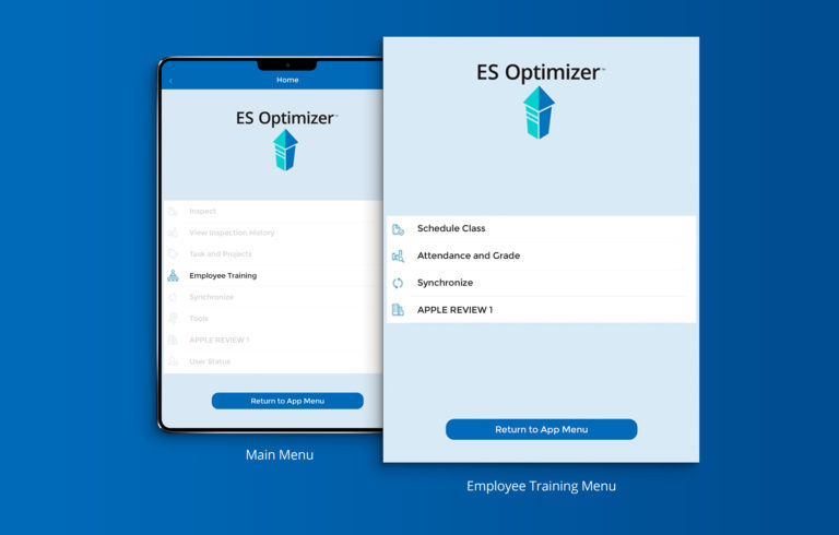 ES Optimizer Mobile App Screens
