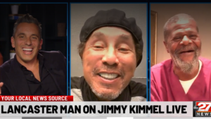 EVS worker meeting Smokey Robinson on Jimmy Kimmel Live